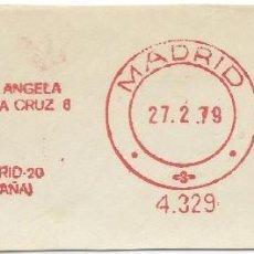 Sellos: 1979. MADRID. FRANQUEO MECÁNICO. FRAGMENTO. PULLMANTUR. MÁQUINA 4329. TURISMO. TRASPORTES.. Lote 289537613