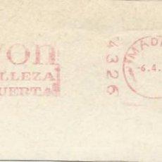 Sellos: 1979. MADRID. FRANQUEO MECÁNICO. FRAGMENTO. AVON. MÁQUINA 4326. PERFUMERÍA.. Lote 289537763