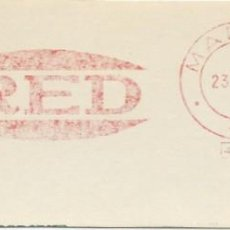 Sellos: 1976. MADRID. FRANQUEO MECÁNICO. FRAGMENTO. METER CUT. RED. MÁQUINA 4321.. Lote 289537898