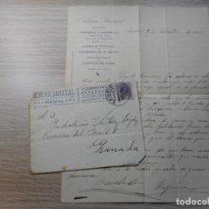 Sellos: ANTIGUA CARTA FRANQUEADA.MEMBRETE ADRIAN BARAZAL.VIAJEROS.MADRID 1910?. Lote 290118113