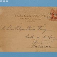 Sellos: CARTERIA BENAGUACIL VALENCIA - TARJETA POSTAL DE HAUSER Y MENET CIRCULADA 6 OCTUBRE 1903 - VER. Lote 293955943