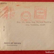 Sellos: ZARAGOZA LOTE 5 SOBRES CIRCULADOS CON MATASELLO RODILLO CAJAS Y BANCOS AÑOS 60. Lote 294128478