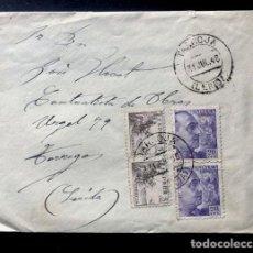 Sellos: TARROJA ( LLEIDA ) SOBRE CIRCULADO JULIO AÑO 1948 / CONTIENE CARTA MANUSCRITA. Lote 294957783