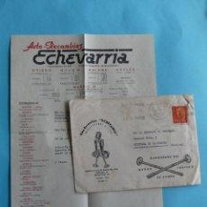 Sellos: SOBRE PUBLICITARIO - AUTORECAMBIOS ECHEVARRIA MADRID - CON CARTA Y PUBLICIDAD AL DORSO 1962 - VER. Lote 294992863