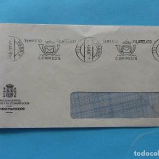 Sellos: SOBRE CARTA - MATASELLO RODILLO SERVICIO FILATELICO MADRID 4 AGOSTO 1987. Lote 295022643