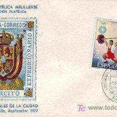 Sellos: FRANQUICIA EJERCITO EXPEDICIONARIO III EXPOSICION, MELILLA 6 SEPTIEMBRE 1972. MATASELLOS RARO SOBRE. Lote 12606636