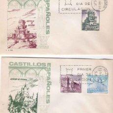 Sellos: 2 SPD CASTILLOS ESPAÑOLES, 1966. CON MATASELLOS CONMEMORATIVO . Lote 3721934
