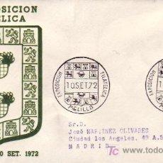 Sellos: HERALDICA ESCUDOS III EXPOSICION FILATELICA, MELILLA 1972. MATASELLOS EN SOBRE CIRCULADO DE ALFIL.. Lote 3942930