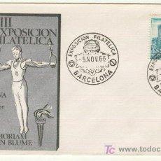 Sellos: COCHE SEAT VII EXPOSICION FILATELICA OCTUBRE 1966 BARCELONA JOAQUIN BLUME IN MEMORIAM. Lote 22152270