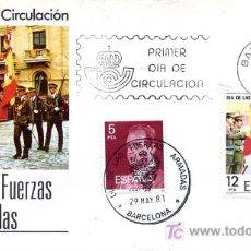 Sellos: DIA DE LAS FUERZAS ARMADAS 1981. Lote 16618521