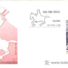 Sellos: ESPAÑA 1988.- SOBRE PRIMER DIA CIRCULACION.- S.F.C. A 719.- DIA DEL SELLO.- FRANCISCO DE TASSIS. Lote 4034946
