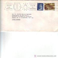 Sellos: RELIGION SAN ISIDRO AYUNTAMIENTO DE MADRID 1987. RARO MATASELLOS DE RODILLO EN CARTA. GMPM.. Lote 4135774