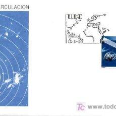 Sellos: ESPAÑA 1990.- SOBRE PRIMER DIA CIRCULACION.- S.F.C. A.775 U.I.T. SATELITE. Lote 4140984