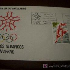 Selos: ESPAÑA 1988 - SOBRE PRIMER DIA CIRCULACION XV JUEGOS OLIMPICOS INVIERNO CALGARY PATINAJE. Lote 4277174