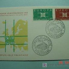 Sellos: 8603 FRANCIA FRANCE FDC SOBRE PRIMER DIA DE EMISION AÑO 1963 - MAS ESTE TIPO EN COSAS&CURIOSAS. Lote 4875862