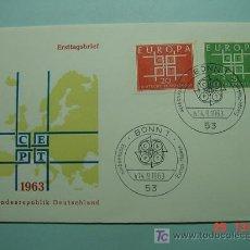 Sellos: 8604 ALEMANIA GERMANY FDC SOBRE PRIMER DIA DE EMISION AÑO 1963 - MAS ESTE TIPO EN COSAS&CURIOSAS. Lote 4875874