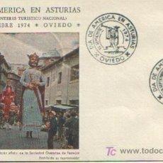 Sellos: MATASELLADO ESPECIAL DIA DE AMERICA EN ASTURIAS , OVIEDO 198 SEPTIEMBRE 1974. Lote 4914633