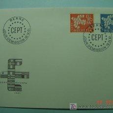 Sellos: 9394 SUIZA HELVETIA SWISS 1961 TEMA EUROPA FDC SPD SOBRE PRIMER DIA EMISION MAS EN COSAS&CURIOSAS. Lote 5411311