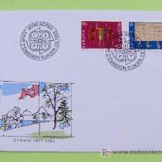 Sellos: FDC SUIZA. AÑO 1982. EUROPA. HISTORIA. . Lote 5668300