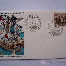 Sellos: SOBRE PRIMER DIA IV CENTENARIO DE LA BATALLA DE LEPANTO, VALENCIA 1971. Lote 23785432