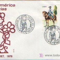 Sellos: MATASELLADO ESPECIAL EN SOBRE ALFIL DIA DE AMERICA EN ASTURIAS , OVIEDO 19 SEPTIEMBRE DE 1978. Lote 6133996