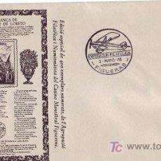 Sellos: AVIACION XV EXPOSICIÓ FILATÈLICA TEMÀTICA AVIACIÓ, FIGUERAS (GERONA) 1976 MATASELLOS RARO SOBRE GMPM. Lote 6212043
