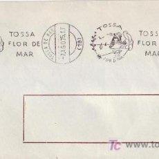 Sellos: TOSSA FLOR DE MAR, TOSSA DE MAR (GERONA) 1975. RARO MATASELLOS DE RODILLO EN SOBRE. GMPM.. Lote 6212057