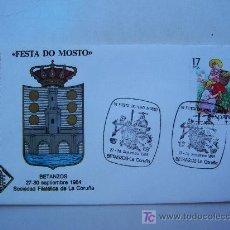 Francobolli: SOBRE PRIMER DIA ´´FESTA DO MOSTO´´, BETANZAS (LA CORUÑA) 1984. Lote 24385347