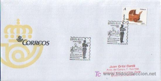 MATASELLADO ESPECIAL EXPOFIL - ROTA ,XXV AÑOS DE ACTIVIDADES MUSICALES FUNDACION ALCAIDE ZOILO 2007 (Sellos - Historia Postal - Sello Español - Sobres Primer Día y Matasellos Especiales)