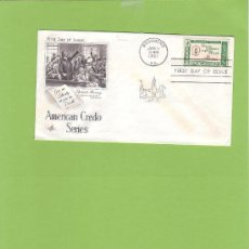 Sellos: SOBRE FIRST DAY OF ISSUE AMERICAN CREDO SERIES PATRICK HENRY SELLO 4 CTS SO9. Lote 11888609