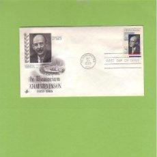 Sellos: SOBRE FIRST DAY OF ISSUE IN MEMORIAM ADLAI STEVENSON 1900-1965 SELLO DE 5 CTS SO8. Lote 13561964