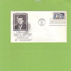 Sellos: SOBRE FIRST DAY OF ISSUE IN MEMORIAM JHON F. KENNEDY 1917-1963 CON SELLO 5 CENTS SO4. Lote 13740723