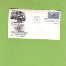 Sellos: SOBRE FIRST DAY OF ISSUE 20 ANNIVERSARY UNITED NATIONS 1945-1965 CON SELLO DE 5 CENTIMOS SO5. Lote 13740724
