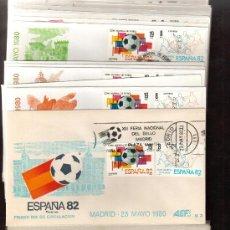 Sellos: LOTE DE LOS 16 SOBRES DE PRIMER DIA ESPAÑA 82 CAMPEONATO MUNDIAL DE FUTBOL VER FOTO. Lote 26518146