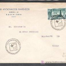Sellos: 1956-09/12 BARCELONA, CIRCULADA, CRUZ ROJA, MEDICINA, EXPOSICION FILATELICA EN HONOR CRUZ ROJA. Lote 10548895