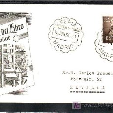 Sellos: 1951-11/06 MADRID, LITERATURA, FERIA NACIONAL DEL LIBRO, . Lote 7690339
