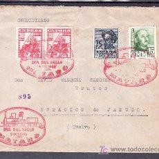 Sellos: 1948-09/10 MATARO (BARCELONA), CIRCULADA CERTIFICADA, FF.CC., DIA DEL SELLO, RARO, . Lote 10843494