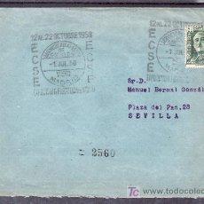 Sellos: 1950-01/07 MADRID, CIRCULADO CERTIFICADO, SERVICIO FILATELICO DE CORREOS, EXP. FIL. DE MADRID. Lote 10843402