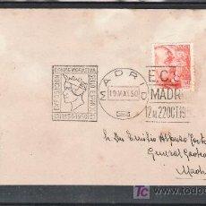 Sellos: 1950-19/05 MADRID, CIRCULADO, PROPAGANDA EXPOSICION CONMEMORATIVA DEL SELLO ESPAÑOL,. Lote 10656689