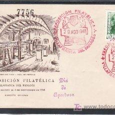 Sellos: 1948-29/08 VILLAFRANCA DEL PENEDES, SOBRE ILUSTRADO, MARCA DIA DE APERTURA, EXPOSICION FILATELICA, . Lote 10858340