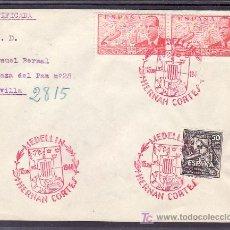 Sellos: 1948-15/06 MEDELLIN, CIRCULADA CERTIFICADA, IV CENTENARIO HERNAN CORTES, . Lote 10902003