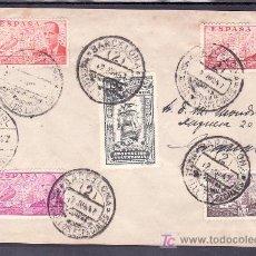 Sellos: 1947-12/06 BARCELONA, CURIOSO SOBRE CON FERIA OFICIAL MUESTRAS Y 1ª EXP. NAC. MATASELLOS ESPECIALES. Lote 9956953