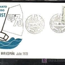 Sellos: 1970-30/07 ARENYS DE MAR (BARCELONA), DEPORTE, BARCO, CAMPEONATO MUNDIAL OPTIMIST 70, . Lote 11220103