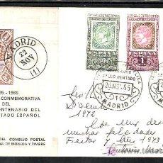 Sellos: 1965-26/11 MADRID, EXPOSICION FILATELICA CENTENARIO DEL SELLO DENTADO,. Lote 7910250