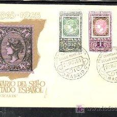 Sellos: 1965-22/11 MADRID, CON SERIE 1689/91 PRIMER DIA, EXPOSICION FILATELICA CENTENARIO DEL SELLO DENTADO,. Lote 7910273