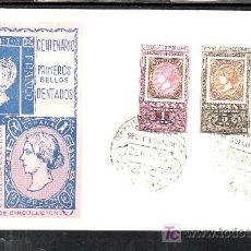 Sellos: 1965-22/11 MADRID, CON SERIE 1689/91 PRIMER DIA, EXPOSICION FILATELICA CENTENARIO DEL SELLO DENTADO,. Lote 7910289
