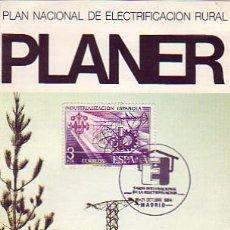 Sellos: SALON INTERNACIONAL DE LA ELECTRIFICACION, MADRID 1984. MATASELLOS EN FOLLETO PLANER. RARO ASI. GMPM. Lote 7920447
