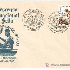 Sellos: MATASELLO ESPECIAL 37 DESCENSO INTERNACIONAL RIO SELLA , ARRIONDAS-RIBADESELLA 1973. Lote 24722141