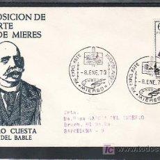 Sellos: 1973-08/01 MIERES (ASTURIAS), CIRCULADA CERTIFICADA, ARTE, XIII EXP. ARTE HIJOS DE MIERES, . Lote 10986539