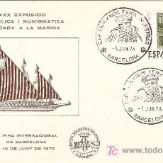 Sellos: MATASELLO ESPECIAL EN SOBRE OFICIAL DE LA 44 FIRA INTERNACIONAL DE MUESTRAS DE BARCELONA 1976. Lote 8130345